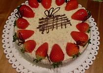 Ananasovo - jahodový dort