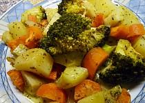 Brokolice, mrkev, brambory v páře a MW