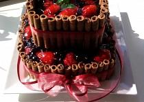 Dvoupatrový ovocný dort