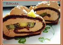 Kiwi čoko-roláda