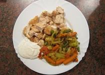 Kuřecí prsa se zeleninovou přílohou
