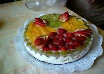 Nepečený ovocný dort II.