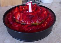 Ovocný dvojpatrový dortík