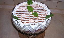 Ovocná mísa s krémem z bílé čokolády