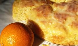 Pomerančový pletený koláč