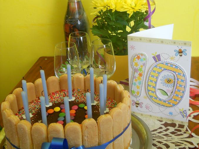 oslava narozenin s tímhle dortem,měla úspěch :-)