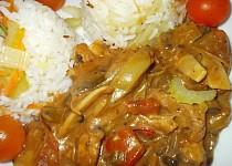Vepřové maso s bambusovými výhonky, zázvorem a houbami