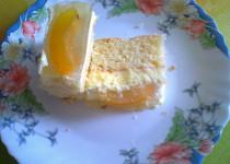 Buchta-krém, ovoce, želé