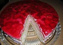 Jahodovo - smetanový dort