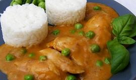 Kuře na paprice s hráškem
