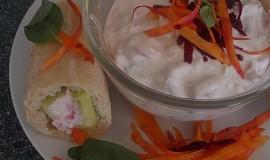 Lehký zeleninovo-sýrový salátek