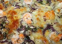 Pizza - mangold, krevety ...