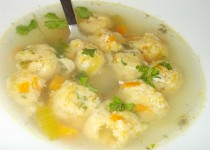 Jemné řapíkato - mrkvové knedlíčky do polévky