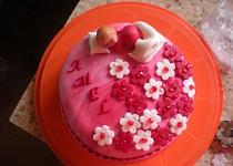 Růžový dortík