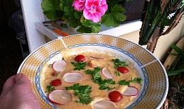 Zeleninová polévka se smetanou a sýry