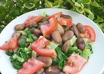 Bobový salát s mangoldem a rajčaty