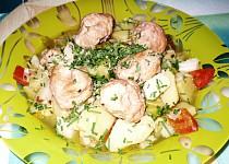 Masové kuličky na zelenině