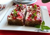 Rebarborový koláč s tvarohem