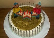 Tříbarevný dort s mascarpone krémem (Pat a Mat)