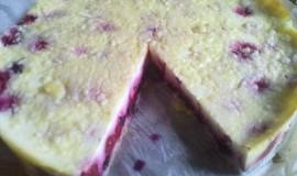 Tvarohový koláč s drobenkou a ovocem