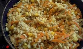 Kroupy s mrkví a kukuřicí