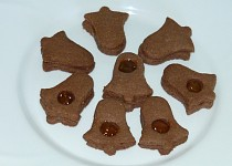 Linecké cukroví s kakaem