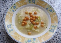 Polévka  s pórkem a žampionovým sýrem
