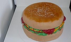 Sladký hamburger - dort