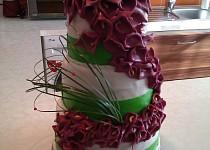 Svatební dort s kalami