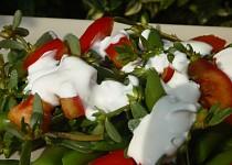 Fazolkový salát s rajčaty a šruchou