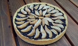Křehký koláč s mákem a hruškami