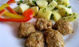 Kuličky z krůtího masa a brambor