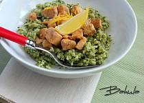 Lososovo-špenátové rizoto