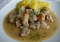 Masová směs v koprovo-dijonské omáčce s česnekem