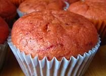 Růžové muffiny