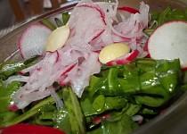 Salát z ředkviček, rukoly  a  sýrů