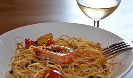 Špagety po rybářsku