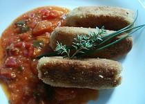 Vypečené krokety  (s ostrou rajčatovou omáčkou)