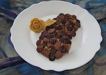 """""""Americké cookies"""" s dvojí čokoládou"""
