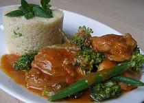 Kuřecí s harissou a zeleninou
