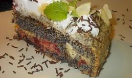 Makový dort - Mak- Mak - Makulenka   / bez mouky/