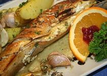 Makrela s nivou na pomerančích