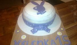 Piškotový dort s marcipánem