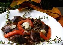 Salát ze zelené čočky s václavkami - pro Magdalenku
