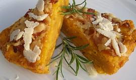 Slaninovo - parmazánový dýňový koláč