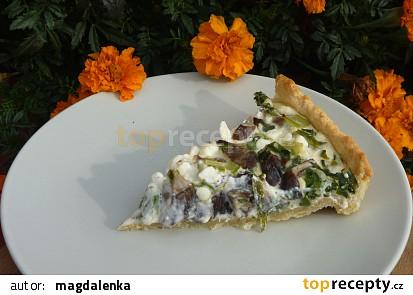 Slaný koláč s mangoldem a václavkami