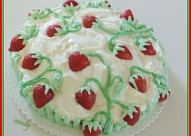 Tvarohový dort Jahody