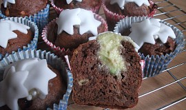 Banánové muffiny s bílou čokoládou