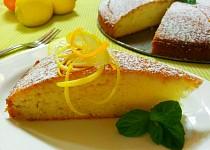 Citronový koláč s pomerančovým přelivem