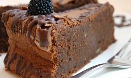 Čokolískový dort  bez mouky